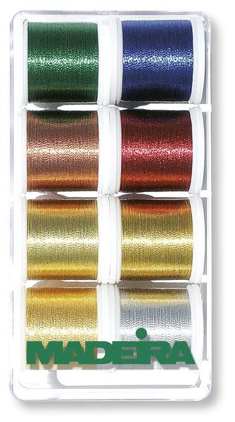 Madeira 8012 Stickbox Metallic Classic 8 Spulen /à 200 m